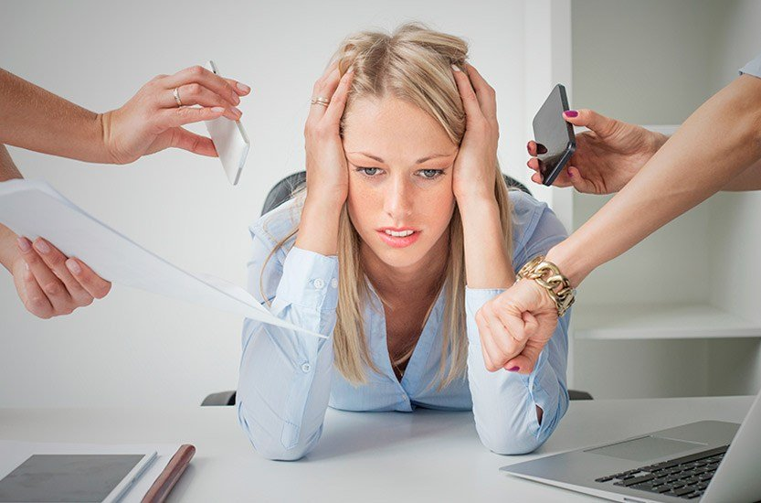Woman sick of working nine to five
